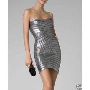 BCBG Gun Metal Bandage Dress